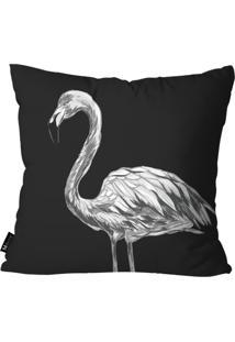 Capa Para Almofada Mdecore Flamingo 45X45Cm Preto