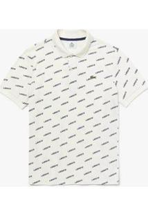 Camisa Polo Lacoste Live Slim Fit Masculina - Masculino-Branco+Azul