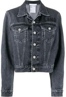 Helmut Lang Cropped Denim Jacket - Cinza