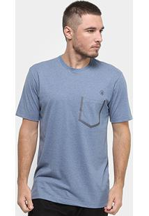 Camiseta Volcom Heather Pocket Masculina - Masculino