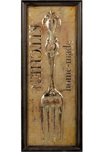 Quadro Decorativo De Parede Fork Com Moldura