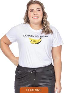 T-Shirt Feminina Dolce & Banana Branco