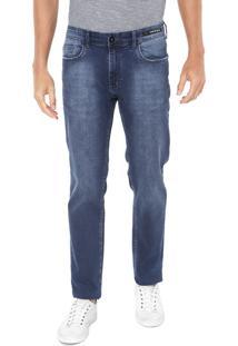 Calça Jeans Aramis Slim Estonada Azul
