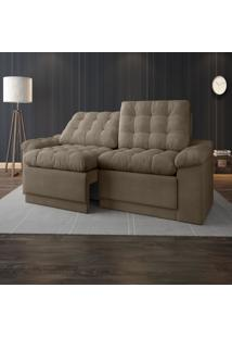 Sofã¡ 4 Lugares Net Confort Assento Retrã¡Til E Reclinã¡Vel Capuccino 2,20M (L) - Marrom - Dafiti