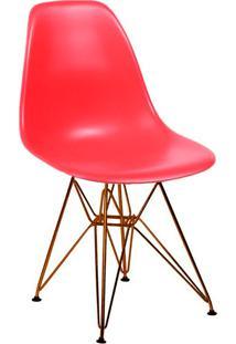 Cadeira Base Em Cobre 1102-Or Design - Vermelho