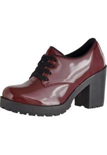 Oxford Crshoes Tratorado Verniz Bordo