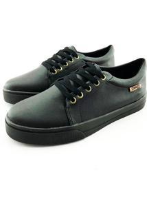 Tênis Quality Shoes Feminino 007 Courino Preto 36