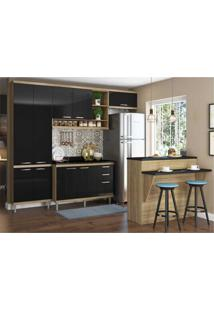Cozinha Completa Multimóveis Com 6 Peças Sicília 5846 Argila/Preto