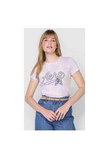 Camiseta Aeropostale Tie Dye Lilás