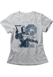Camiseta Feminina Policial Do Futuro - Feminino-Mescla