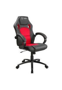 Cadeira Gamer Husky Gaming Snow, Preto E Vermelho, Cilindro De Gás Classe 4, Base Em Metal, Roda Em Nylon - Hst-Br