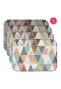 Jogo Americano Wevans Marble Triangle Kit Com 4 Pçs