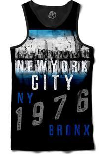 Camiseta Regata Bsc New York City 1976 Sublimada Preto