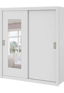 Guarda-Roupa Casal Com Espelho Apoena 2 Pt 3 Gv Branco