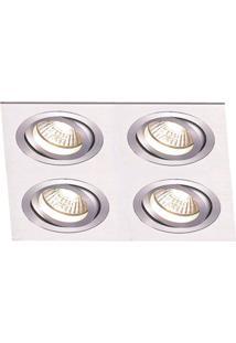 Spot Embutir De Alumínio Ecco 4Cmx24Cmx24Cm Bella Iluminação - Caixa Com 2 Unidade - Alumínio