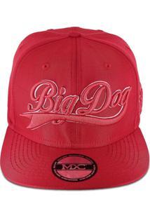 Bonã© Mxc Brasil Aba Reta Snapback Ajustã¡Vel Big Dog Vermelho - Vermelho - Dafiti