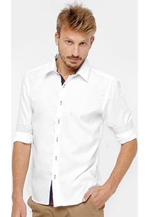 Camisa Social Blue Bay Manga Longa Masculina - Masculino