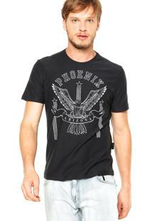 Camiseta Ellus Phoenix Preta