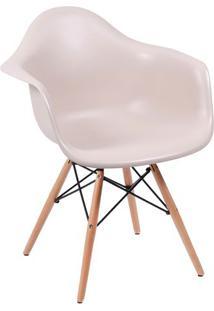 Poltrona Eames Dar- Fendi & Madeira- 82X62X44Cm-Or Design