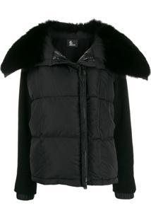 Moncler Grenoble Fur Collar Jacket - Preto