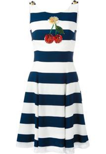 Dolce & Gabbana Vestido Listrado - Azul