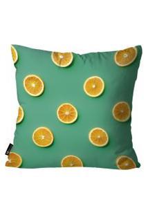 Capa Para Almofada Mdecore Frutas 45X45Cm Verde