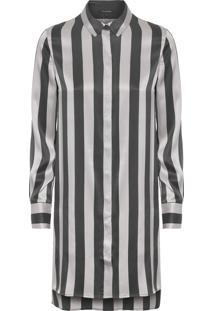Camisa Feminina Longa Lola - Cinza
