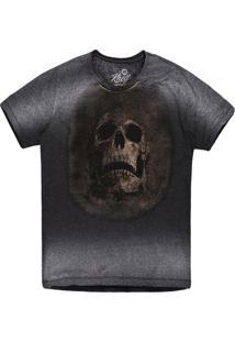 Camiseta Khelf Caveira Cinza