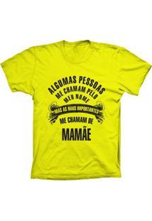 Camiseta Baby Look Lu Geek Chamam De Mamãe Amarelo