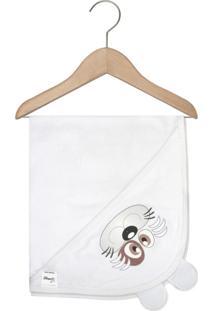 Toalha De Banho Mafessoni Capuz Orelhinha Branco
