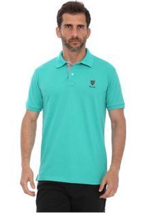 Camisa Polo New York Polo Club Slim - Masculino-Verde