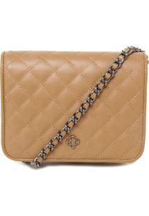 Bolsa Couro Capodarte Shoulder Bag Pequena Bege
