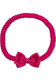 Faixa De Cabelo Trançada Laço Pink - Roana Tre00066009 Faixa De Cabelo Trançada Especial Laço Pink