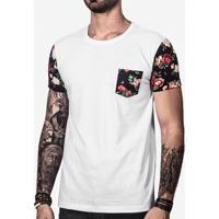 676b78fe7b Camiseta Hermoso Compadre Manga Estampada Masculina - Masculino-Branco
