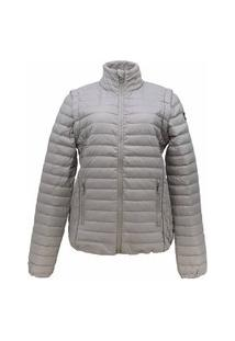 Jaqueta Feminina 2 Em 1 (Jaqueta E Colete) De Pluma Ultralight Alpine - Alm