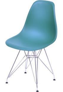 Cadeira Eames Polipropileno Azul Petroleo Base Cromada - 43034 Sun House