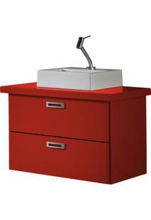 Balcão Suspenso Para Banheiro Kenzo 161 Vermelho - Maxima
