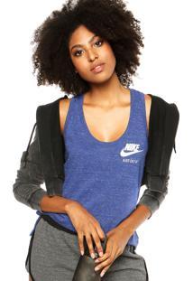 Camiseta Regata Nike Sportswear Gym Vintage Azul