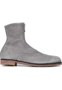 Guidi Ankle Boot Com Zíper - Cinza