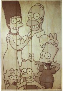 Quadro Zona Criativa Família Simpsons Bege