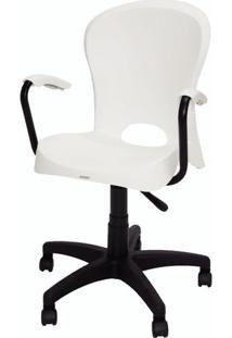 Cadeira Jolie Com Rodizios Branco - 20062 - Sun House