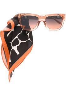 Linda Farrow Óculos De Sol Com Aplicação De Lenço - Rosa