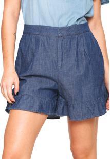 5bc51b831 Ir para a loja  Short Jeans Colcci Babado Joana Azul