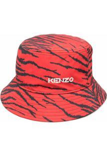 Kenzo Chapéu Bucket X Kansai Yamamoto Com Estampa De Zebra - Vermelho