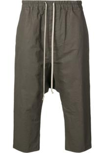 Rick Owens Drawstring Drop Crotch Trousers - Cinza