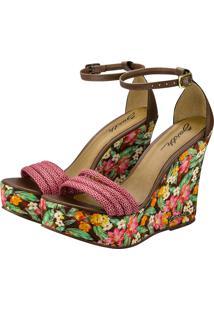 Sandália Barth Shoes Solaris Floral Marrom