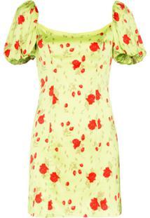 De La Vali Vestido Mini Koko Floral - Verde