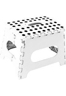 Banco Cadeira Banqueta Infantil Dobravel Banquinho Branco (Dth40006)