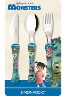 Faqueiro Com 3 Peças Monsters Kids Simonaggio 1446