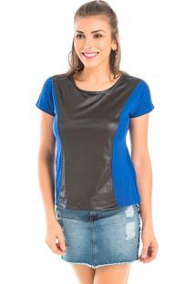 Blusa Azul Fr Têxtil